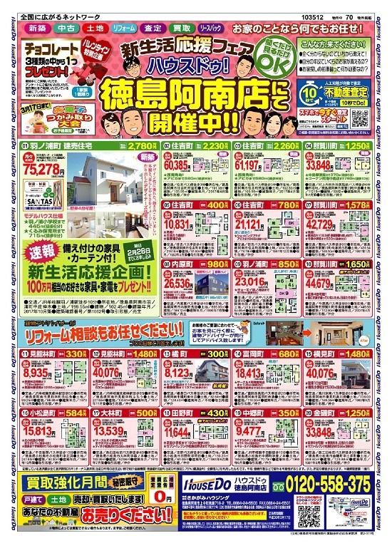 阿南・小松島 不動産チラシ 2月号(戸建て住宅)