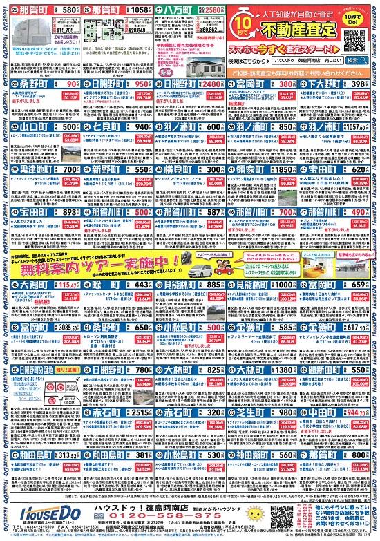 阿南・小松島 不動産チラシ 5月号(土地)