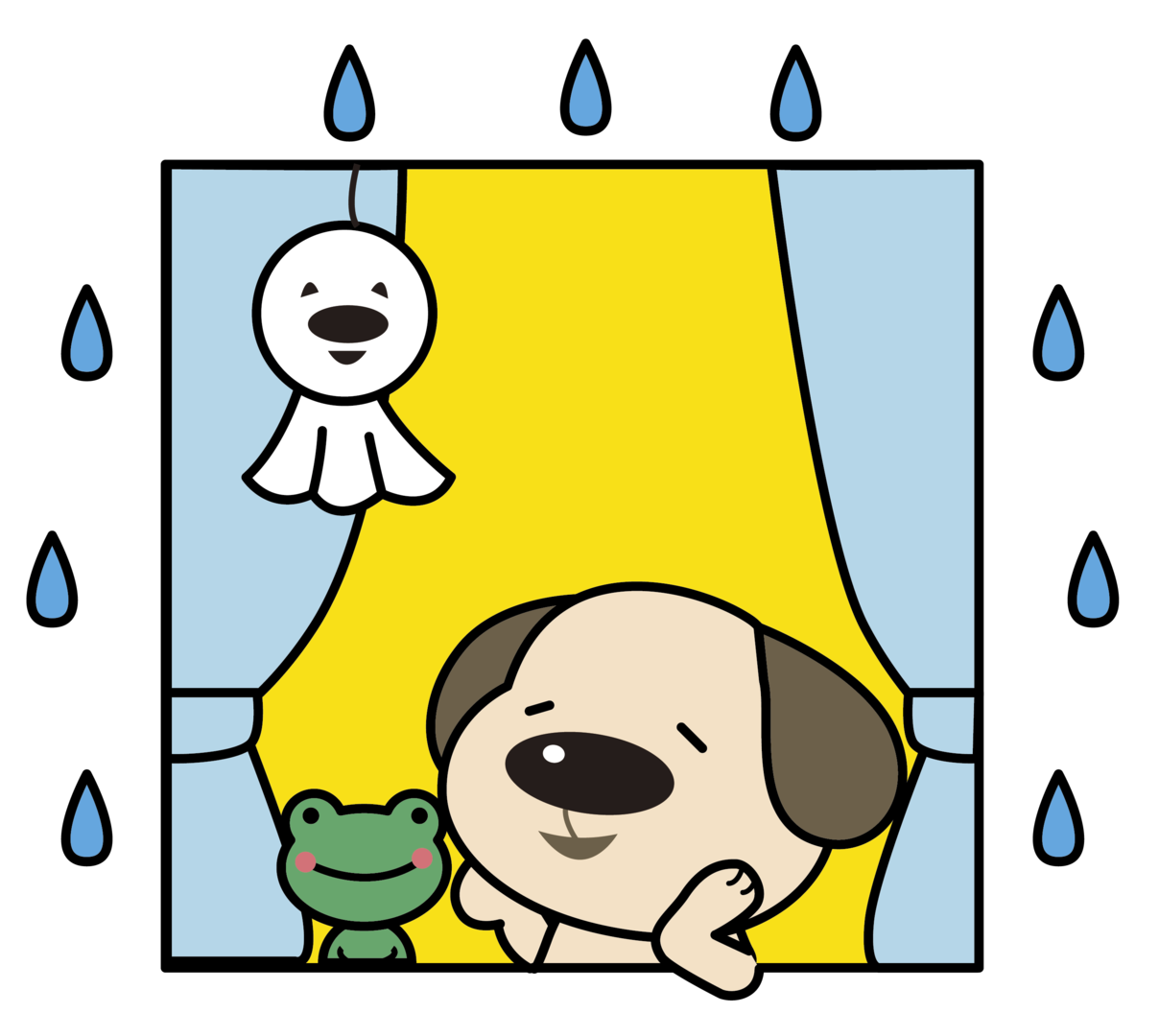 Doくん梅雨窓